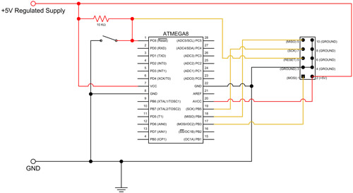 atmega8 circuit diagram