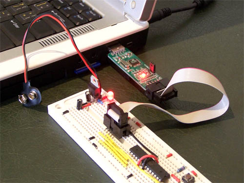 Connecting a USBasp programmer