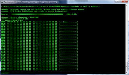 AVRdude terminal mode