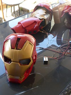 Iron Man suit Helmet and Arm